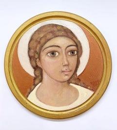 Angel - XXI century, Oil figurative painting, Religious