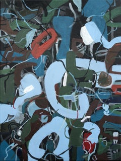 Untitled - XXI century, Young art, Oil abstraction painting, Blue, Colourful
