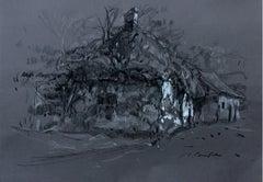 Wrzeszczów - XXI century, Figurative landscape drawing, Black and white