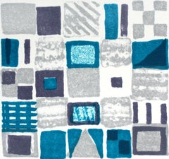 Composition VI - XXI century, Mixed media abstract print, Colourful