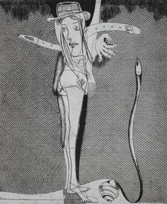 Erotic - XX century, Black and white, Figurative print