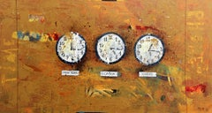 Time zones - XXI Century, Contemporary Acrylic Painting, Colorful, Texture
