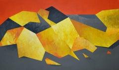 Tatra Mountains IV - Painting, Orange & Yellow, Abstract landscape