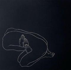Beginning - XXI century, Young artist, Figurative print, Linocut, Black & white
