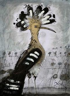 Hoopoe - Contemporary art, Figurative Painting, Animals, Classics, Art master