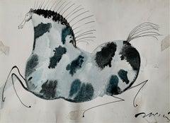 A Horse - Contemporary art, Figurative Painting, Animals, Classics, Art master
