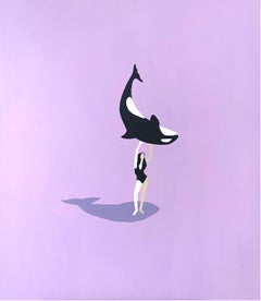 Killer whale - Contemporary Acrylic Figurative Painting, Young art, Minimalist