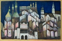 Cracow - XXI century, Oil figurative painting, Cityscape, City view