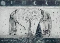 Tree - XXI century, Figurative print, Limited edition, Black & white