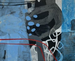 Big hopes  -  Contempory abstract, Oil, Blue & red