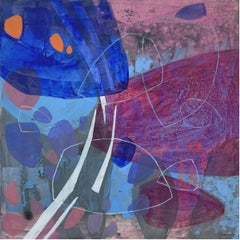 Whale's heart  -  Contempory abstract, Oil, Colorful, Purple & blue