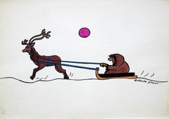 Gapiszon - XX century, Cartoon, Figurative colourful drawing