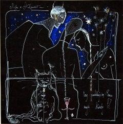 Master & Margarita - double-sided - XXI century, Drawing, Dark colours, Symbolic
