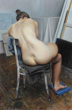 Elle - Contemporary Figurative Oil Painting, Nude, Realistic painting