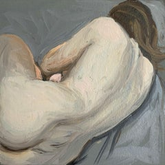 Laying one - Contemporary Figurative Oil Painting, Nude, Realistic painting