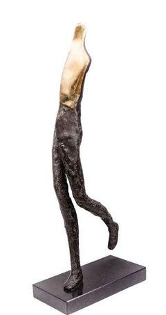 A Runner, Contemporary Bronze Figurative Original Sculture