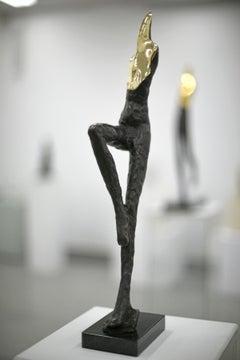 A Standing One, Contemporary Bronze Figurative Original Sculture