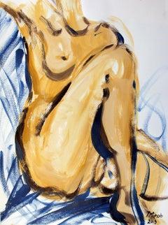 Nude - XXI century, Mixed media, Acrylic painting
