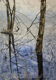 Submerged view - XXI Century, Contemporary Acrylic Painting, Water view, Blue