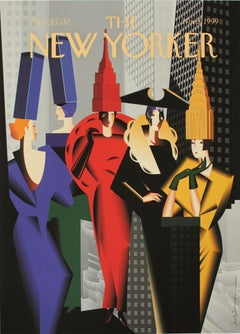 The New Yorker - XX Century, Colourful Figurative Print, Pop Culture, Cover