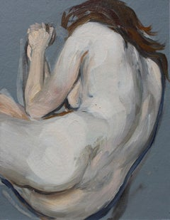 A Nude - Contemporary Figurative Oil Painting, Nude, Realistic painting