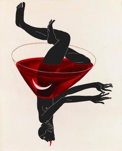 Glass II-XXI Century Contemporary Surrealist Acrylic Painting, Emerging Artist