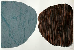 Stones - 21 century contemporary print, Abstraction, Screen print
