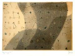 Big bang 4 - Contemporary Abstraction Mixed Media Artwork, Monochromatic