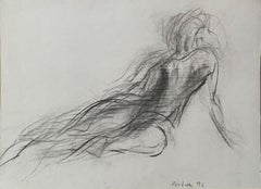 Untitled - Contemporary pencil drawing, Figurative, Minimalistic, Black & white