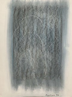 Untitled - Contemporary mixed media drawing, Figurative, Monochromatic