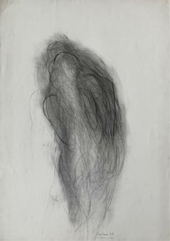 Untitled - Contemporary pencil drawing, Abstract, Black & white