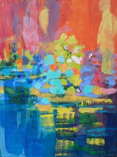 Reflections 4 - 21 Century, Contemporary Abstract, Colorful, Vibrant