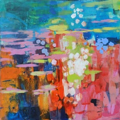 Reflections - 21 Century, Contemporary Abstract, Colorful, Vibrant