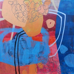 Energy exchange - 21 Century, Contemporary Abstract, Colorful, Vibrant