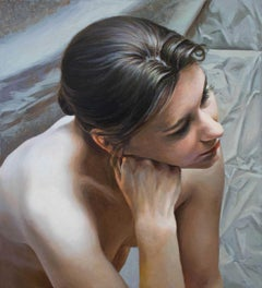 Female portrait - Contemporary Figurative Oil Painting, Realistic painting