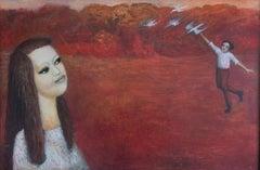Birds - XXI Century, Figurative Oil Painting, Portrait, Vibrant Colors