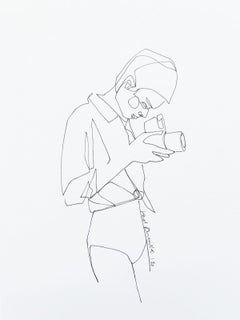 Untitled - Drawing, Young artist, Minimalistic, Black & white, single line