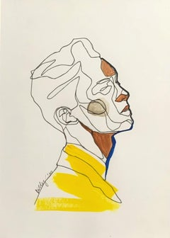Untitled - Drawing, Young artist, Minimalistic, Colorful, Portrait