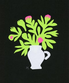 Bouquet - Papercut artwork, Colorful Still life, Figurative