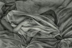 Draft 3 - Polish Young Art, Realism, Drawing, Woman, Monochromatic