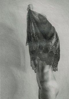 Draft 6 - Polish Young Art, Realism, Drawing, Woman, Monochromatic