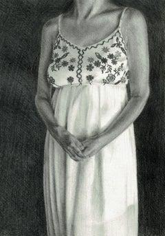 Draft 5 - Polish Young Art, Realism, Drawing, Woman, Monochromatic