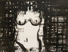 Nude - 21 century, Ink drawing, Abstract & figurative, Black & white