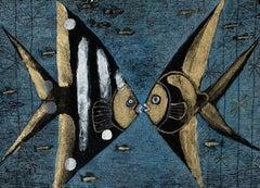Fish - Contemporary art, Figurative Painting, Animals, Classics, Art master