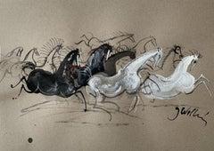 Horses - Contemporary art, Figurative Painting, Animals, Classics, Art master