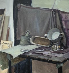 Still life - Figurative Oil Realistic painting, Young artist, Interior