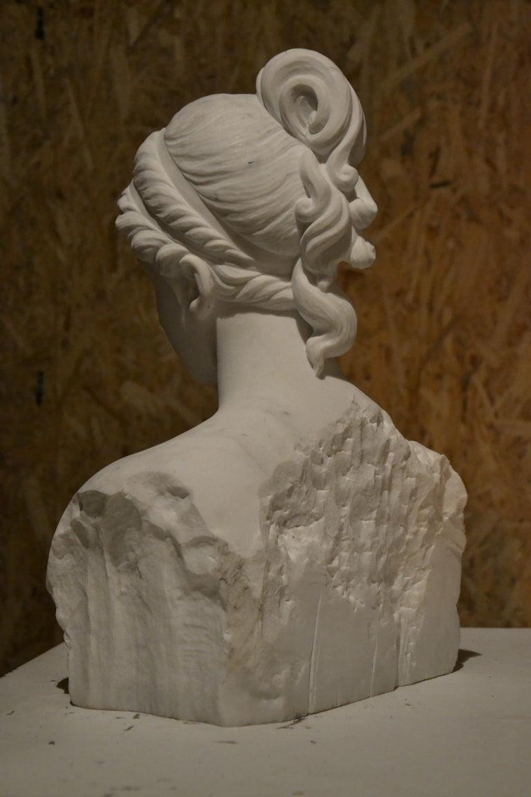 White Carrara Venus Marble Bust, Pietrasanta, 2017 3