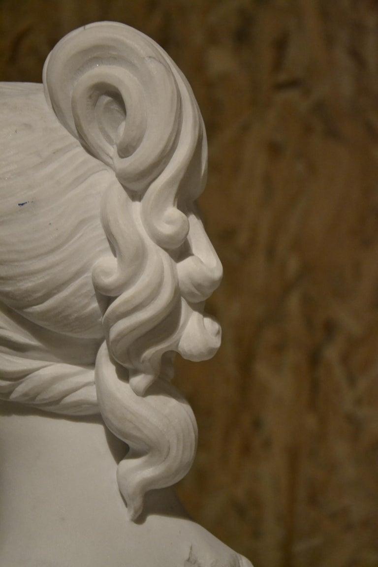 White Carrara Venus Marble Bust, Pietrasanta, 2017 6