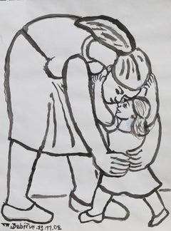 In my arms, Michel Debiève, 2002, unique piece, unframed