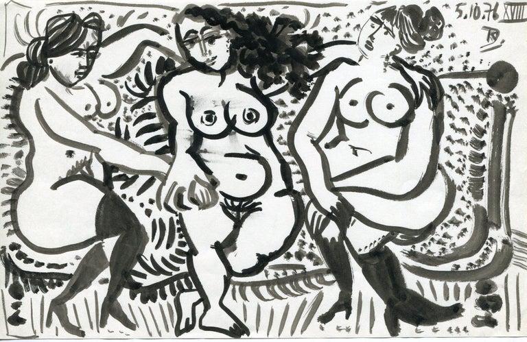 Raymond Debieve Nude - Trois femmes nues - XVIII (18) - Raymond Debiève, unique piece